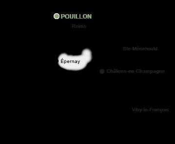 Localisation de Champagne Bourdaire Gallois à Pouillon